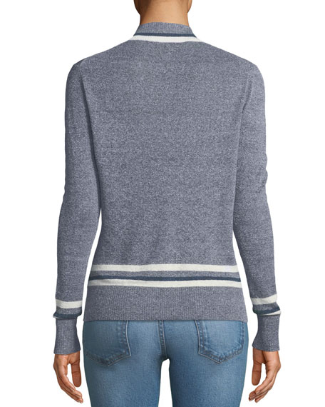Walton V-Neck Long-Sleeve Melange Sweater