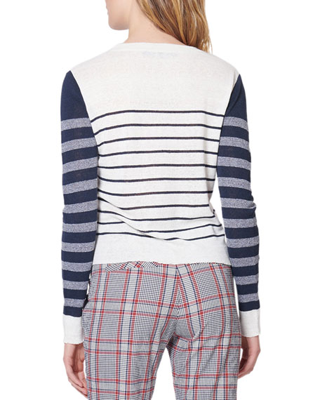 Brae Striped Crewneck Sweater