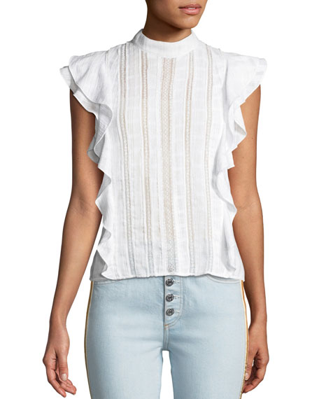 Sol Ruffle Cotton Blouse