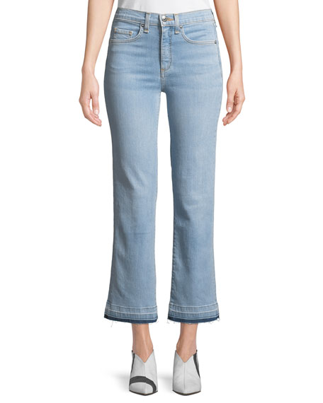Jackie Cropped Straight-Leg Jeans with Released Hem