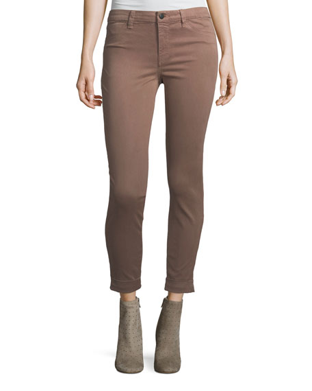 J Brand Anja Skinny Cuffed Ankle Jeans