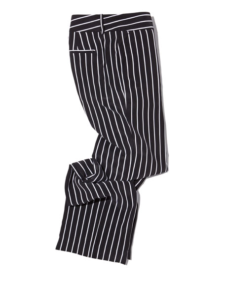 Lita Striped Silk Trousers