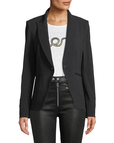 Simone One-Button Dickey Jacket