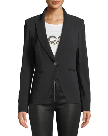 Veronica Beard Simone One-Button Dickey Jacket