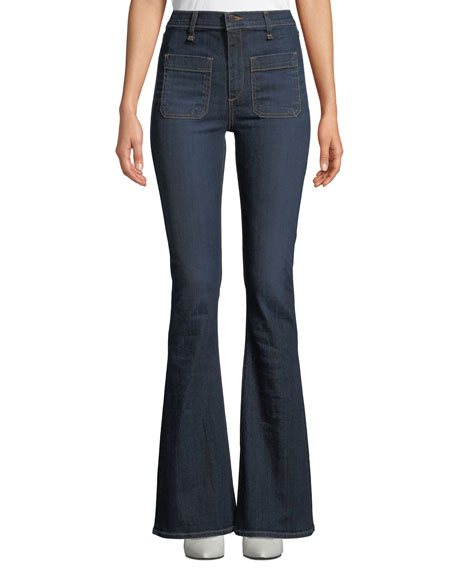 Florence Flared-Leg Denim Pants