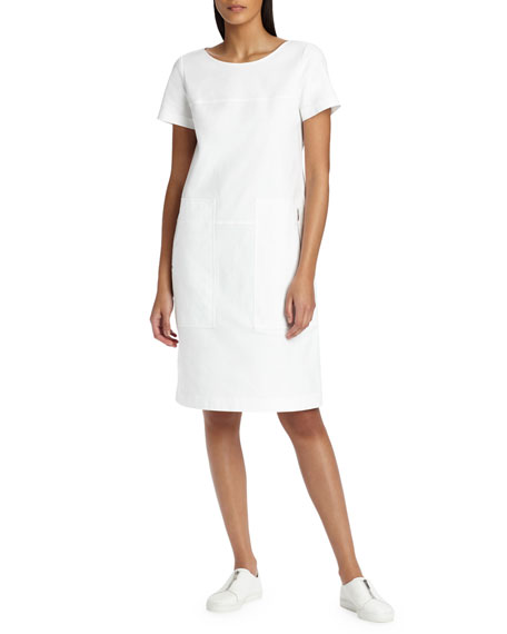 Farah Stretch-Canvas Shift Dress