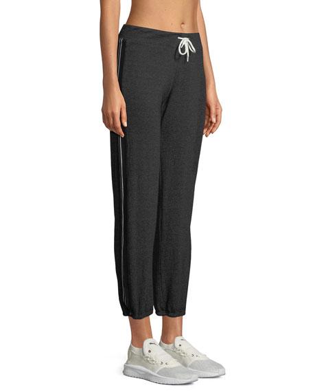 Heathered Drawstring Side-Stripe Sweatpants