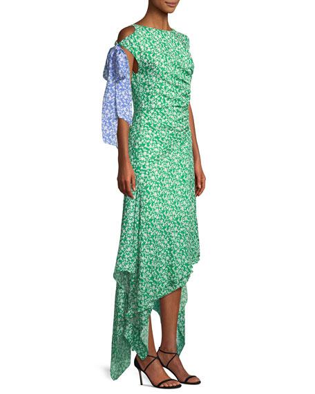 Carita Ditsy Floral-Print Midi Dress
