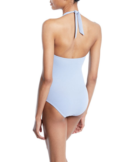 Cassis Smocked One-Piece Swimsuit