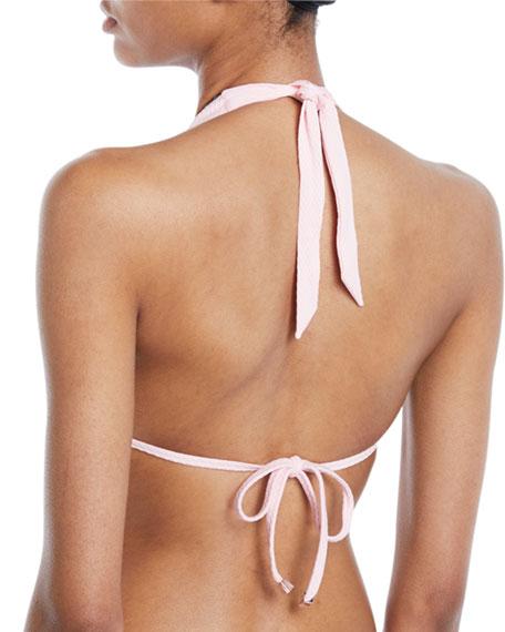 St. Jean De Luz Pompom Halter Bikini Top