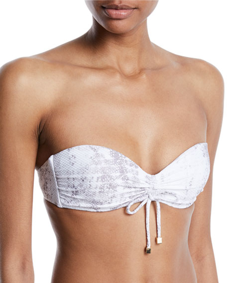 Heidi Klein Core Textured Bandeau Bikini Top and