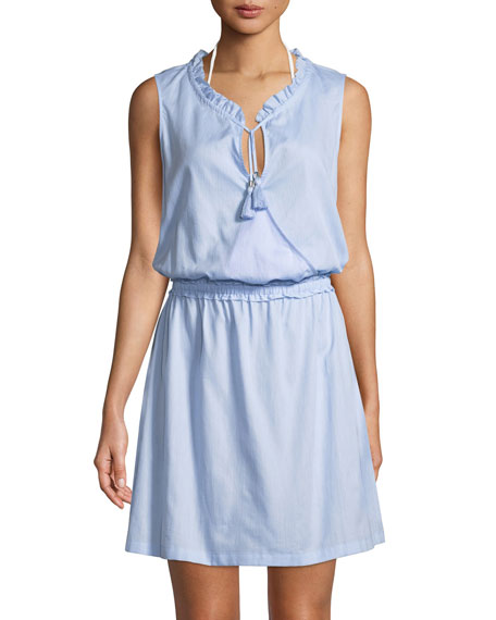 Sleeveless Cotton Coverup Mini Dress