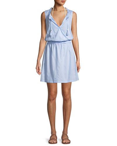 Sleeveless Cotton Coverup Mini Dress