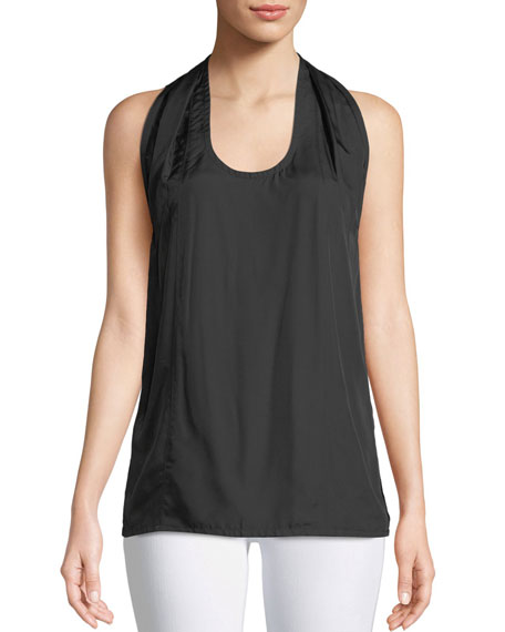 Scoop-Neck Halter Knot Tank Top