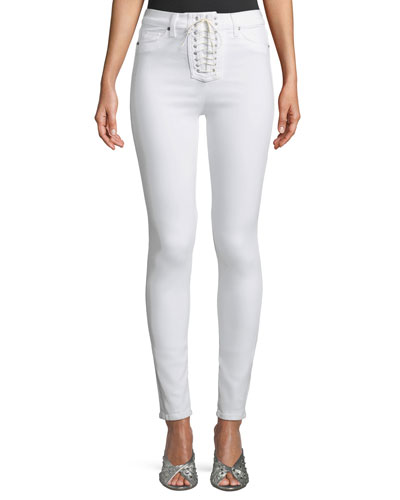Bullocks High-Rise Lace-Up Skinny Jeans
