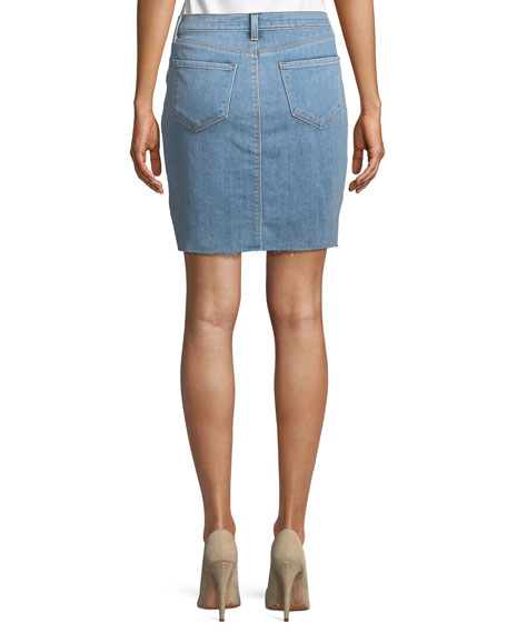 Manuela Distressed Denim Mini Skirt