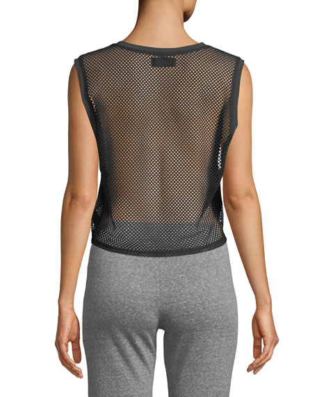 Teagan Mesh-Back Cropped Tank