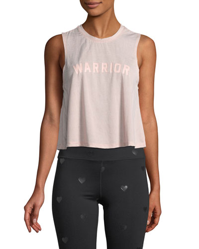 Warrior Cropped Graphic Muscle Tank