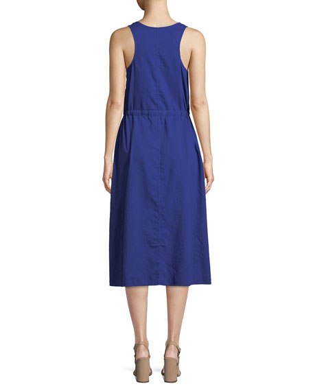 Soft Organic Cotton Twill Racerback Midi Dress, Petite