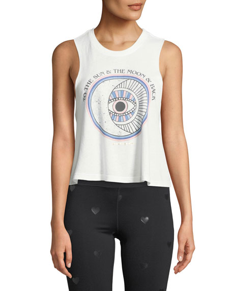 Sun Moon Cropped Graphic Tank