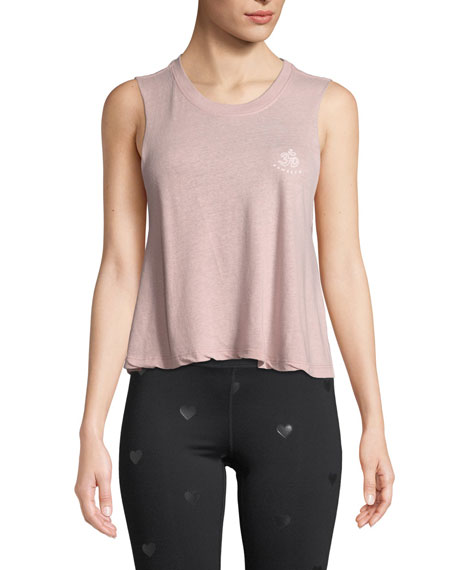 Spiritual Gangster Om Honor Crop Graphic Tank