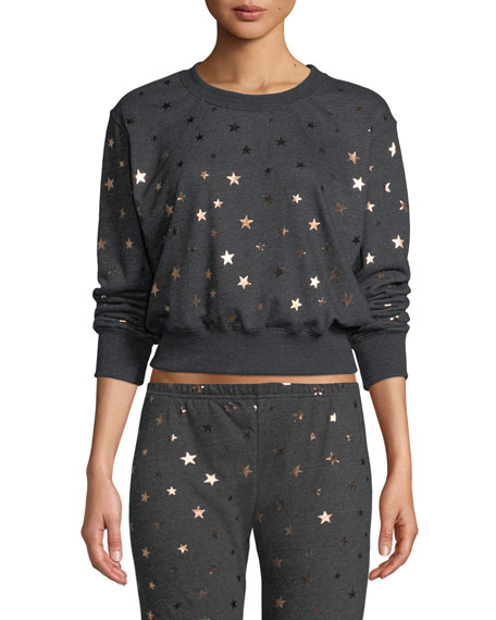 Spiritual Gangster Stars Cropped Pullover Sweatshirt