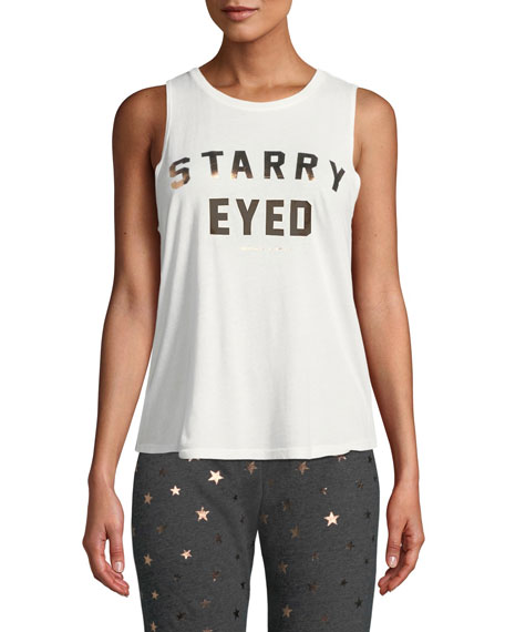 Spiritual Gangster Starry Eyed Graphic Muscle Tank