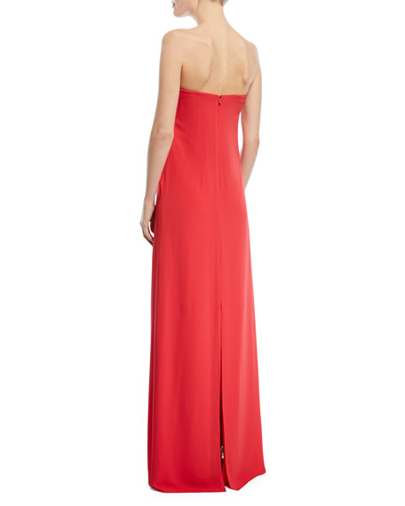 Strapless Gown w/ Front Tie Detail