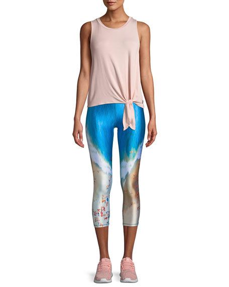 Beach Days Printed Capri Performance Leggings