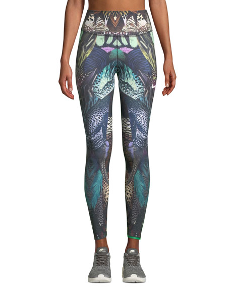 Nike Power Printed Mid-Rise Training Tights