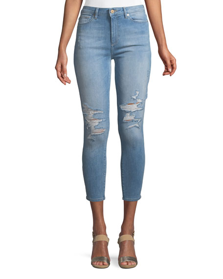 DL1961 Premium Denim Chrissy High-Rise Skinny Distressed Denim