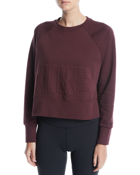 Nike Versa Cropped Training Sweatshirt