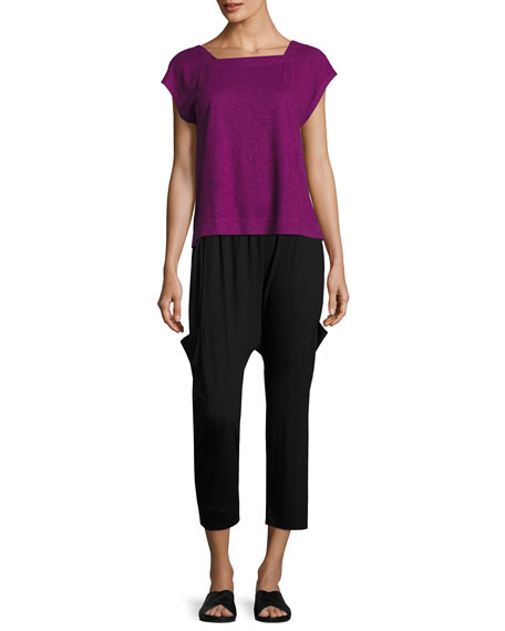 Lightweight Jersey Slouchy Pants, Petite