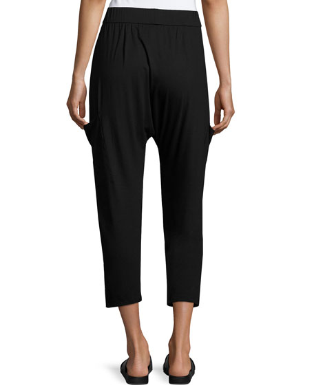 Lightweight Jersey Slouchy Pants, Plus Size