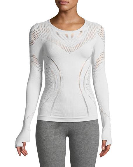 Alo Yoga Lark Long-Sleeve Mesh Top