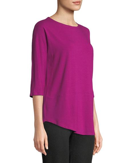 3/4-Sleeve Bateau-Neck Jersey Top, Petite