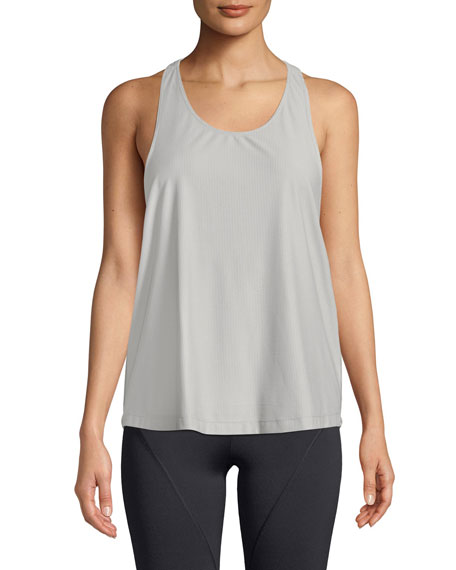 Cushnie Et Ochs Logo T-Back Scoop-Neck Active Tank