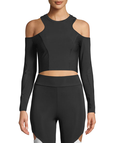 Cushnie Et Ochs Hana Cold-Shoulder Crop Top and