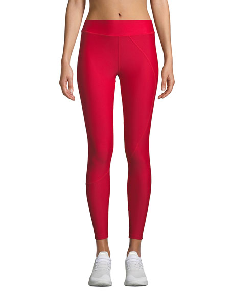 High-Waist Seamed Performance Leggings