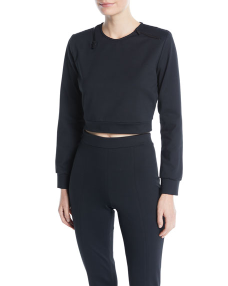 Cushnie Et Ochs Arizona Cropped Crewneck Top w/