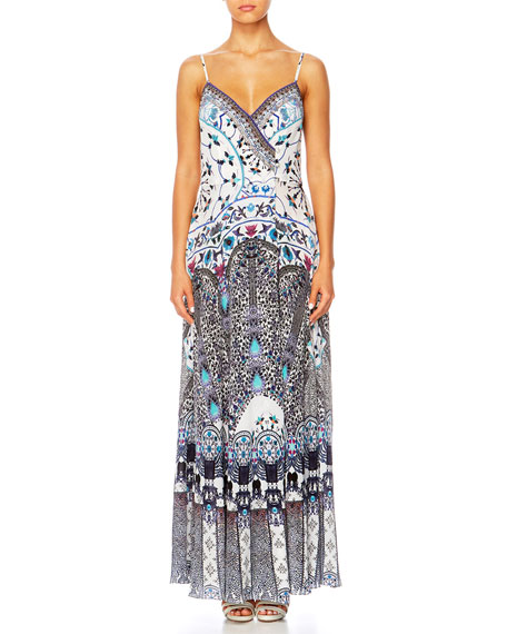 Camilla In The Constellations Cross Overlay Maxi Dress