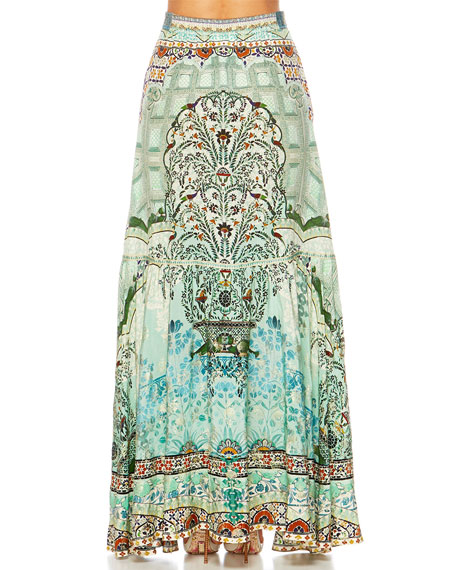 The Spirit Within Printed Peasant Maxi Skirt