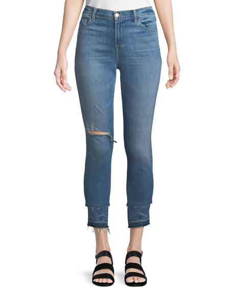 J Brand Alana High-Rise Cropped Skinny Jeans with