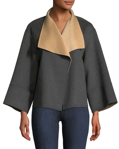 Reversible Luxury Double-Face Cashmere Jacket