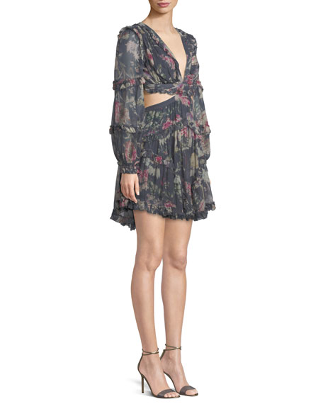 Iris Floral Cutout Mini Dress