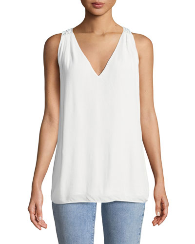 Stolen Glances V-Neck Sleeveless Top