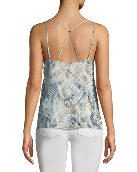 Reflected Light Silk Cami Top with Open Sides