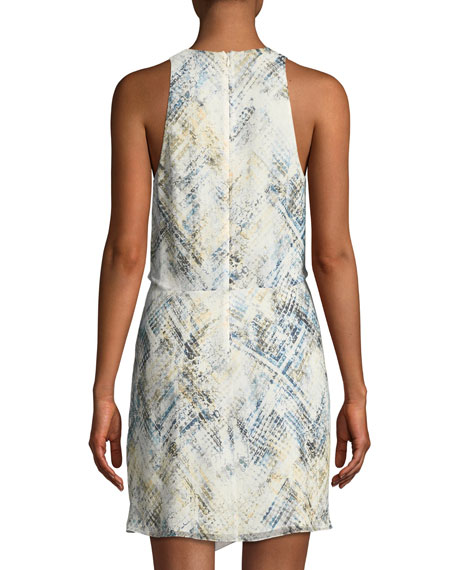Trails End Revive Printed Twist-Front Mini Dress