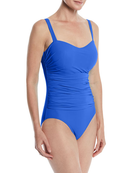 Tutti Frutti Ruched One-Piece Swimsuit (D Cup)