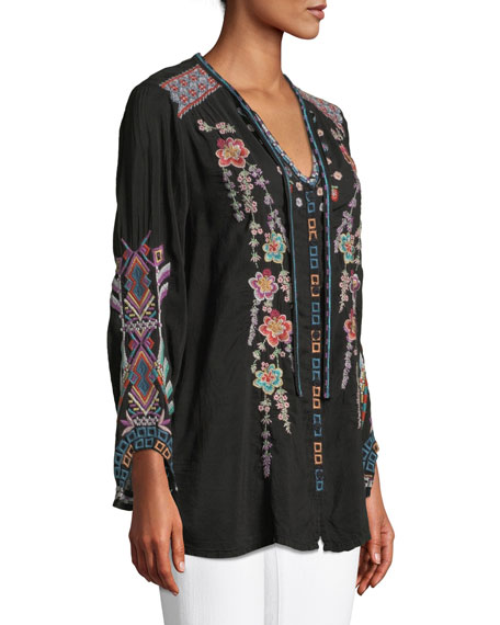 Alaura Embroidered Georgette Blouse